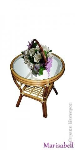 Композиция состоит из 11 белоснежных роз (очень мечтала их слепить) и двух лиловых клематисов с бутонами. фото 15