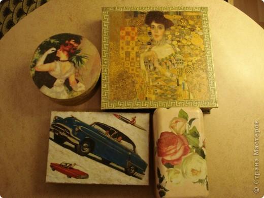 Я как всегда со своими коробочками-шкатулочками.Очень мне нравится их делать!... фото 1