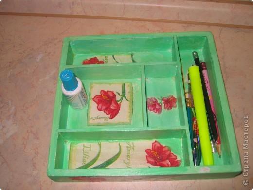 Решила сделать коробочку для ручек и карандашей!!))И вот результат!!! фото 3