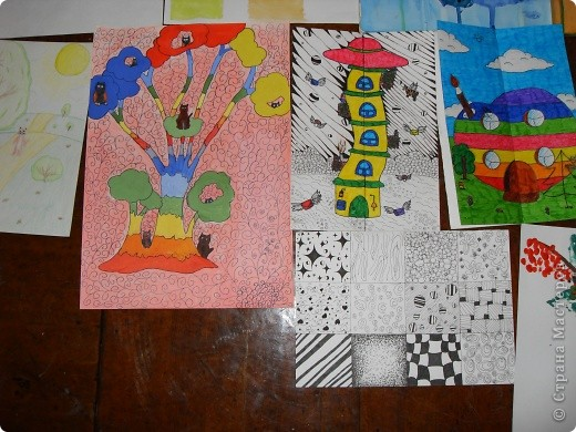 Это картины выполненные карандашом и углём(есть 2 выполненные фломастеом и несколько ручкой). фото 6