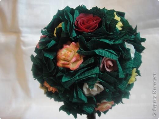 Здравствуйте!Всех Мастериц с праздником Весны я поздравляю !И у меня расцвело розовое дерево.Конечно есть не доработки и есть чему поучиться у Мастериц .Спасибо Вам за Мастер классы. фото 3