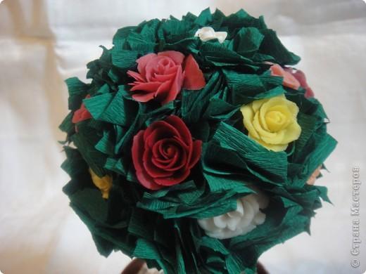 Здравствуйте!Всех Мастериц с праздником Весны я поздравляю !И у меня расцвело розовое дерево.Конечно есть не доработки и есть чему поучиться у Мастериц .Спасибо Вам за Мастер классы. фото 2