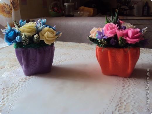 Вот такие вазочки у меня получились фото 1