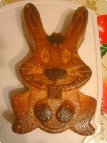 Сынулька очень не любит кашу вот я и решила испечь ему манник, да еще и в виде зайца....в таком виде каша ему понравилась)))) фото 1