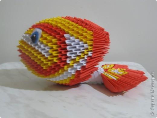 Модульное оригами - Рыбка из
