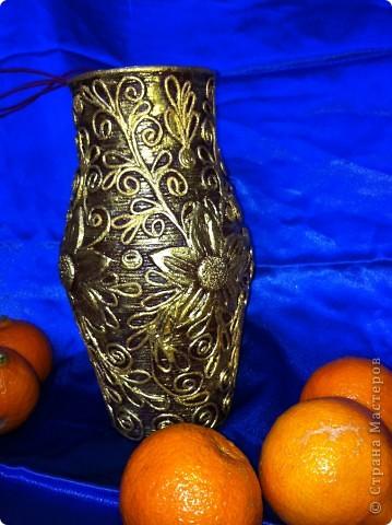 Декор предметов 8 марта Аппликация из скрученных жгутиков Бабушкина ваза Салфетки фото 1