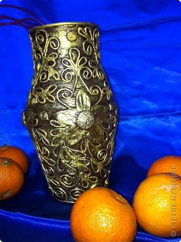 Декор предметов 8 марта Аппликация из скрученных жгутиков Бабушкина ваза Салфетки фото 2