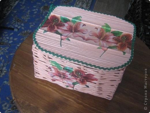 Вот такая корзиночка для всякой всячины родилась у меня ко дню 8 марта маме. фото 1
