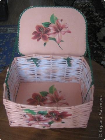 Вот такая корзиночка для всякой всячины родилась у меня ко дню 8 марта маме. фото 3