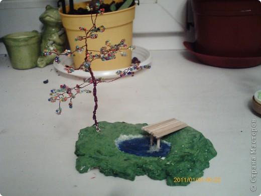 Поделка изделие Бисероплетение Деревца из бисера Бисер фото 3.