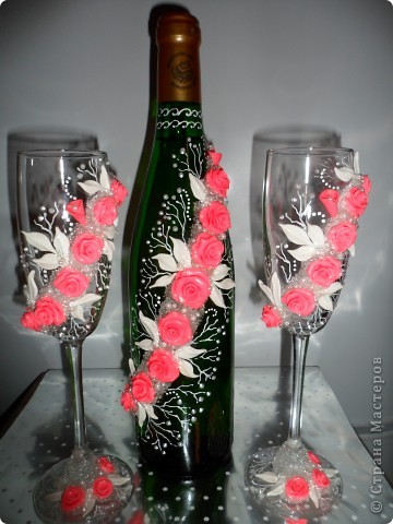 """В канун праздника 8 марта появились два наборчика, в подарок хорошим женщинам.  В работе использовала роспись в стиле """"кораллы"""", идею подсмотрела у Олеси Ф.  фото 1"""