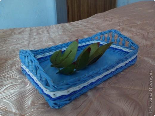 Подносик голубой фото 1