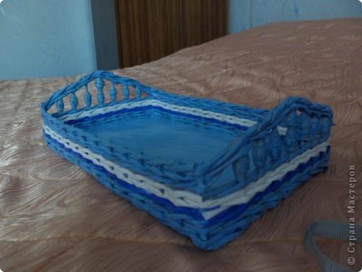 Подносик голубой фото 2