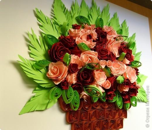 Букет роз в корзинке фото 3