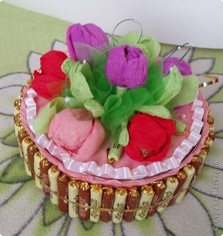 Такой тортик я делала впервые. Папа сладкоежка.  Всем спасибо за вдохновение и мастер классы. фото 2