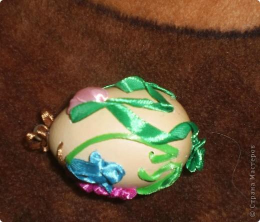 """""""Иван да Марья""""-мое второе вышитое яйцо. Никак не хотело фотографироваться-пришлось подпереть первой своей работой фото 2"""