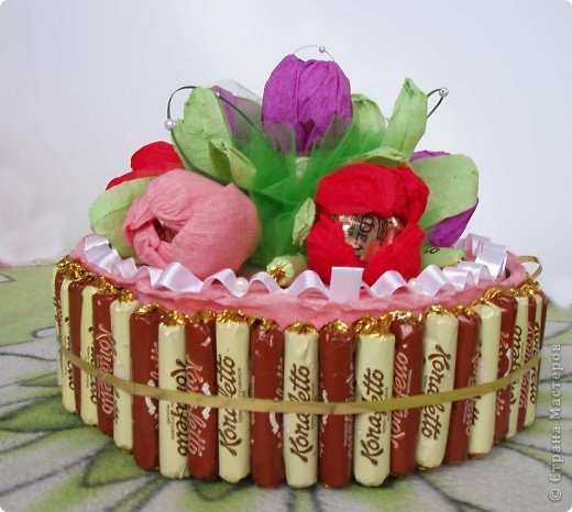 Такой тортик я делала впервые. Папа сладкоежка.  Всем спасибо за вдохновение и мастер классы. фото 1