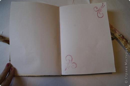 Блокнот с нуля. Обложка из ткани.  фото 3