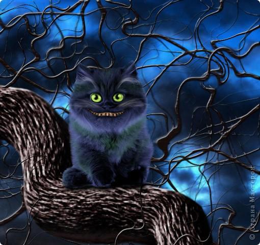 """Люблю """"Фотошоп"""". Меня очень увлекает компьютерная графика. Вот такой получился чеширский кот."""