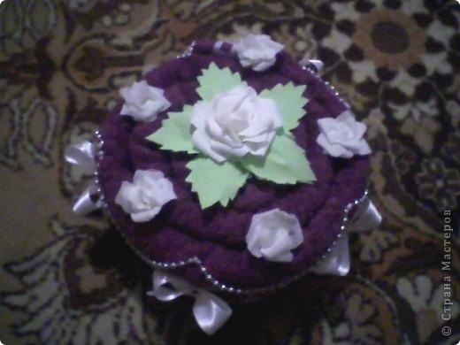 Пироженка из полотенцев фото 3