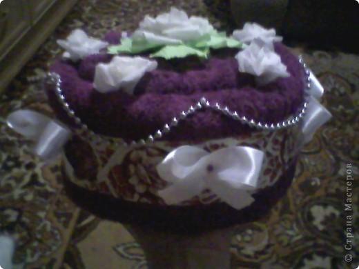Пироженка из полотенцев фото 4
