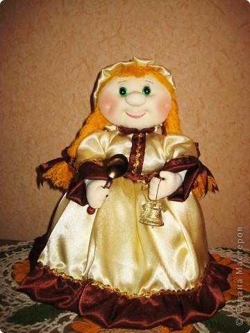 Меня просили сшить куклу на чайник. Вот такая Маруся у меня получилась. Теперь она живёт в Нижнем Новгороде! фото 1