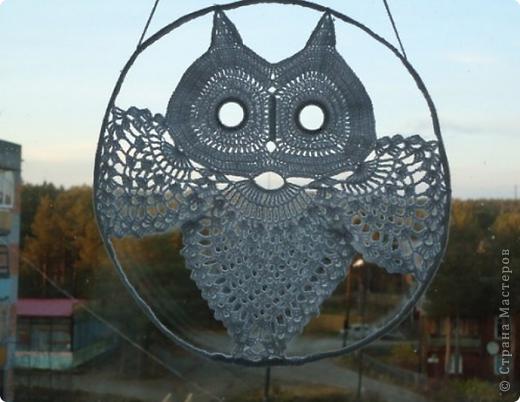 """Панно """"Сова"""" можно использовать как настенное,а мне нравится на окне.Пусть смотрит на улицу. фото 1"""