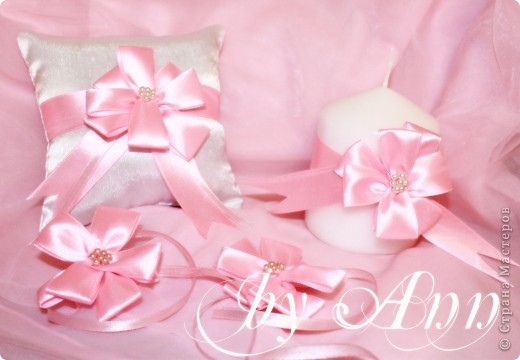 """Свадебный набор """"Розовая нежность"""" фото 1"""
