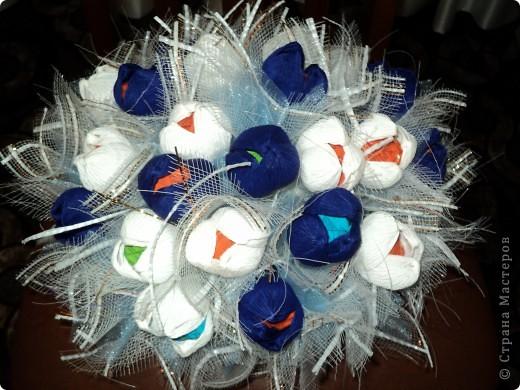 Букеты из конфет.(продолжение) фото 9