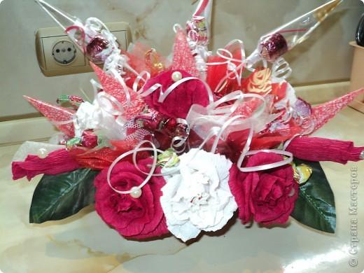 Букеты из конфет.(продолжение) фото 22
