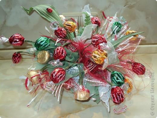 Букеты из конфет.(продолжение) фото 23