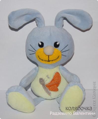 Нежный,ласковый зайчишка,в этот мир пришёл к детишкам. фото 1