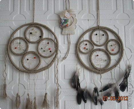 Представляю вашему вниманию ещё несколько ловцов, сделанных, в основном, из натуральных материалов. фото 1