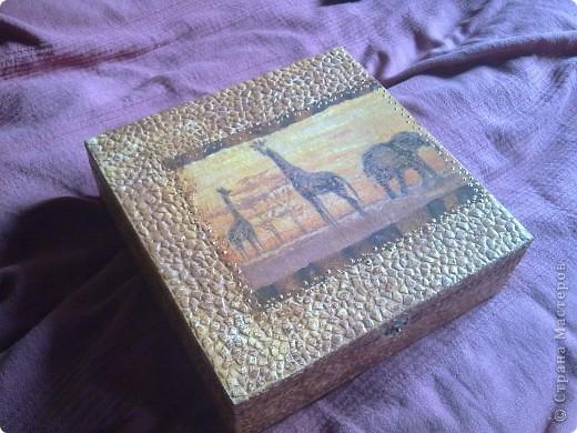Чайная коробочка.Салфетка , акрил , лак. фото 3
