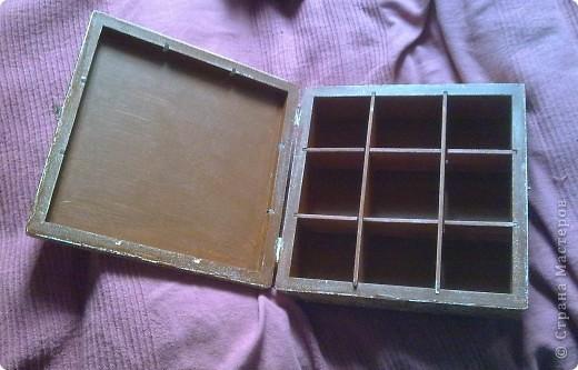 Чайная коробочка.Салфетка , акрил , лак. фото 4