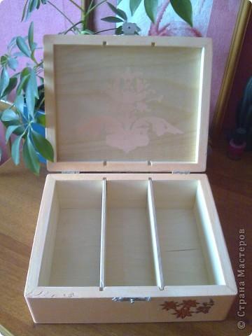 Чайная коробочка.Салфетка , акрил , лак. фото 2