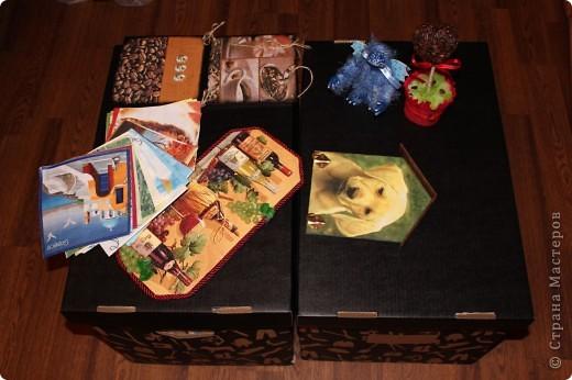 Очередная коробка для чайных пакетиков. Поехала жить, в подарок на 8 марта, к соседке. Говорит понравилось.... мне не очень... фото 19