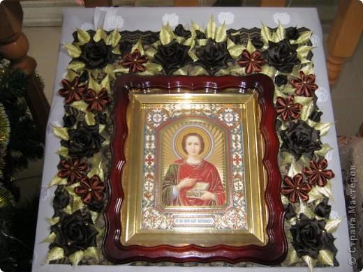 Добрый день, жители Страны!! Сегодня хочу показать Вам украшение в церковь к Посту. Розы конечно всем знакомые от Алины, низкий ей поклон!!! https://stranamasterov.ru/node/269709?tid=451%2C1724  фото 7
