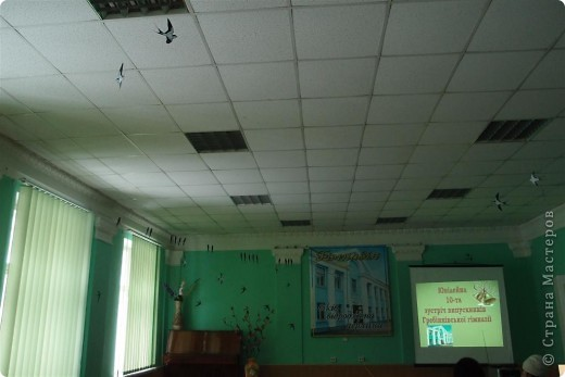 Украшение зала ласточками фото 2