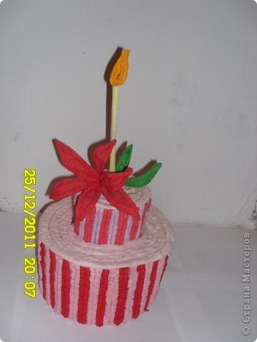 Вот мой тортик(жаль,что несъедобный) фото 1
