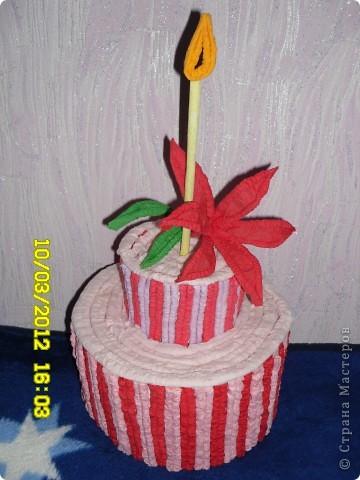 Вот мой тортик(жаль,что несъедобный) фото 3