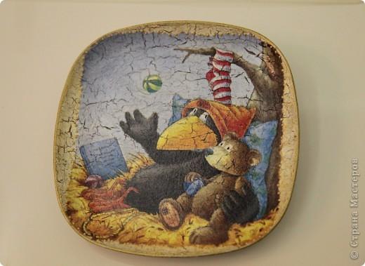 тарелки с воранами - просто очаровалась салфеткой!:)) фото 3