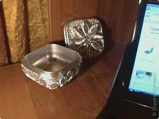 Серебрянная шкатулка фото 2