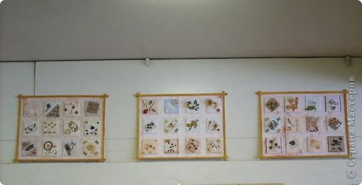 Насмотревшись на красоту, которую создают наши мастерицы из самых обычных (и необычных тоже!) материалов, решила дать своим ученицам короткий проект по украшению школьной столовой. Вот результат их работы. Панно первое от 10б класса. фото 4