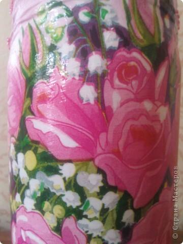 Здравствуйте, гости дорогие!))) Рада представить Вам свои новые и неочень работы! Такие бутылочки-вазы я задекупажила!  фото 3