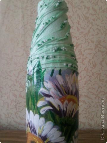 Здравствуйте, гости дорогие!))) Рада представить Вам свои новые и неочень работы! Такие бутылочки-вазы я задекупажила!  фото 6