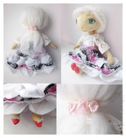 Между делом сшилась маленькая куколка. Назвала я ее Инессой. Волосы сзади собраны в хвостик. В волосах красивая заколка. У нее розовые туфельки с бантиками. фото 2