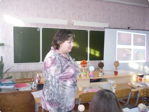 Итог моего мастер-класса для учителей города! Эти деревца они сделали сами и забрали с собой в качестве подарка на 8 марта!!!!!!!! фото 2