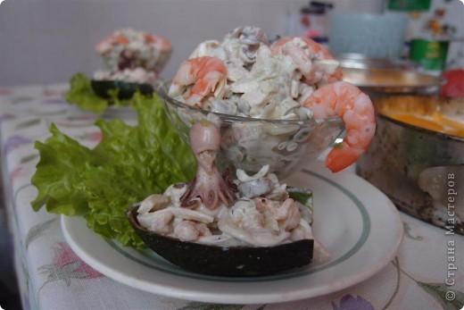 Салат из морепродуктов фото 2