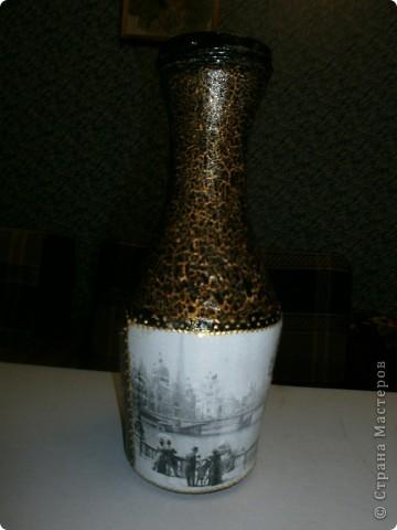 Вазы из бутылок фото 1